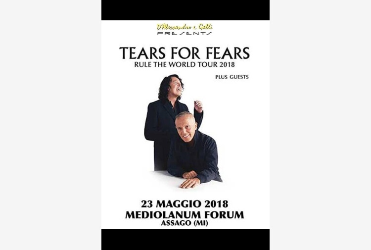 Tears for Fears live 23 maggio a Milano