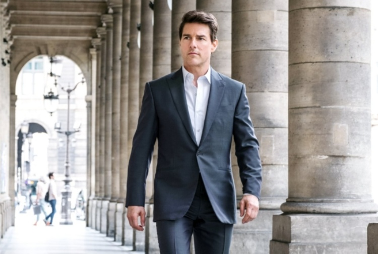 Tom Cruise sul set di 'Mission: Impossible'