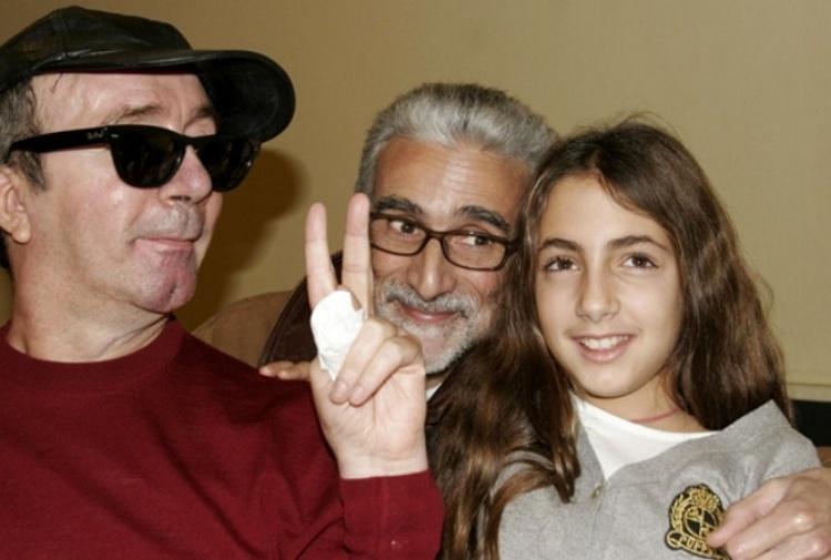 Ginevra e papà Francesco Nuti: